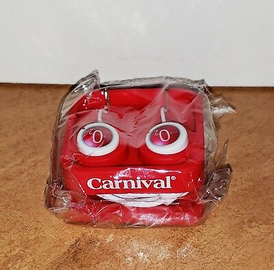 CARNIVAL CRUISE SHIP - CLUB O2 Red Earbuds Ear Phones - Brand NEW with Case