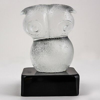 Italian Art Glass OWL Sculpture by Robbe, One of a Kind - Original - Hand Blown