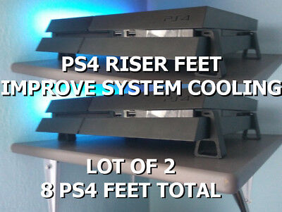PS4 RISER FEET Pro/Fat/Slim - Improved Cooling - 3D Printed