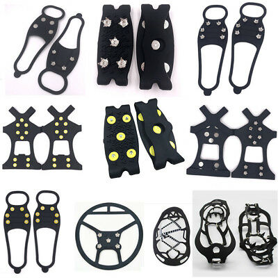 Non Slip Snow Shoes Boot Cover Step Ice Cleats Spikes Grips Crampons Overshoes A