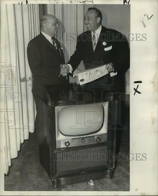 1952 Press Photo A. E. Dupre Honored, 30 Yrs. Service, New Orleans Athletic Club