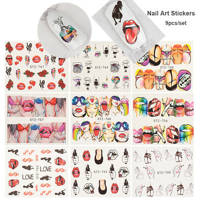 Girl  Nail Art Stickers Nail Decoration Manicure Tips Water transfer Decals