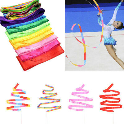 Gym  Training  Rod Stick Dance Ribbon Twirling Ballet Streamer  Art Gymnastic