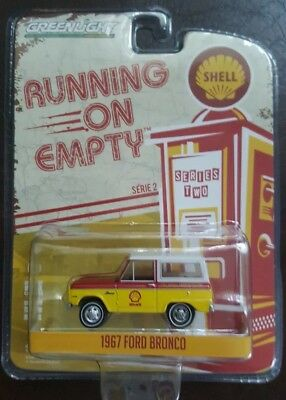 **BRAND NEW** RUNNING ON EMPTY SERIES 2: 1967 FORD BRONCO SHELL 1:64 Green Light