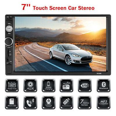 "7"" HD 2Din Touch Screen Car Stereo No DVD MP5 Player Bluetooth Radio FM/USB/AUX"