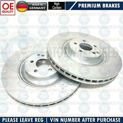 FOR MERCEDES S63 S65 CL63 CL65 AMG FRONT DIMPLED HIGH CARBON BRAKE DISCS 390mm