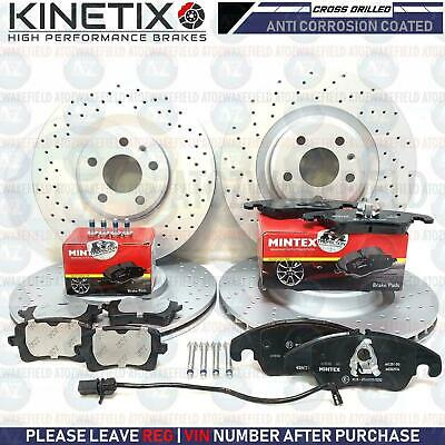 For Audi S5 4.2 V8 Front Rear Cross Drilled Brake Discs Platinum Pd Brake Pads