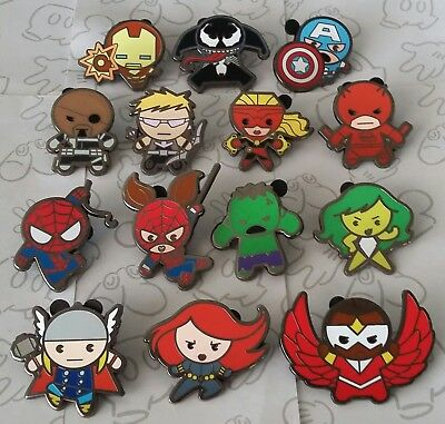 Marvel Kawaii Art Collection Mystery Pouch Avengers Disney Pin Make a Set Lot