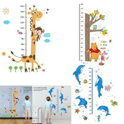 Adhesive Cute Animal Height Chart Measure Wall Sticker Decal for Kids Baby Room