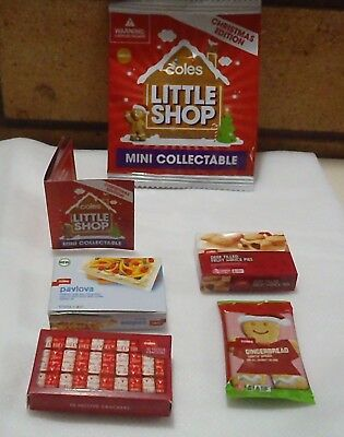 4 Coles Little Shop Christmas Edition Minis - Brand New