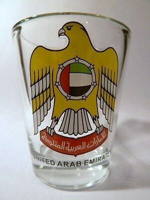 United Arab Emirates (Uae) Coat Of Arms Shot Glass Shotglass