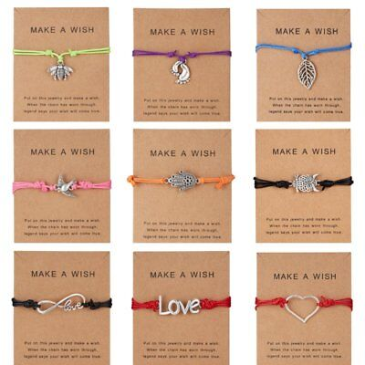 Wish String Adjustable Bracelet Tibetan Charm Friendship Best Friends Gift Card