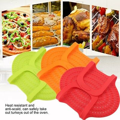 Reusable Non Stick Silicone Chicken Turkey Meat Lifter Roast Ham Kitchen Tool