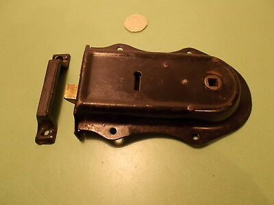 "Antique Rim Lock / Latch with Keep. 6"" x 4"" NO KEY"