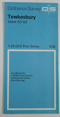 1963 old vintage OS Ordnance Survey 1:25000 First Series Map SO 83 Tewkesbury