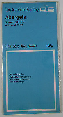 1958 old vintage OS Ordnance Survey 1:25000 First Series prov map SH 97 Abergele