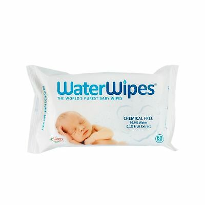 Waterwipes Natural Chemical Free Baby Nappy Wipes - 60 Wipes - Multibuy