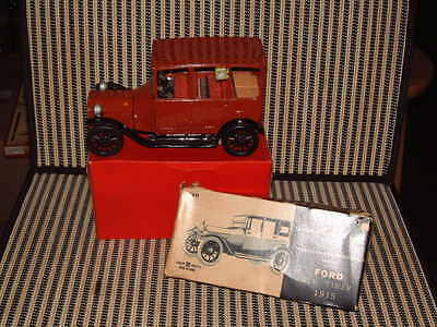 "Bandai Friction, Tin 1915 Ford ""automobiles Of The World"" Series W/box In Red."