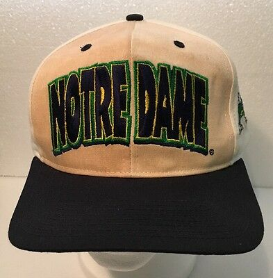 Vintage NCAA Notre Dame Fighting Irish SnapBack Hat Cap University NWOT Unworn