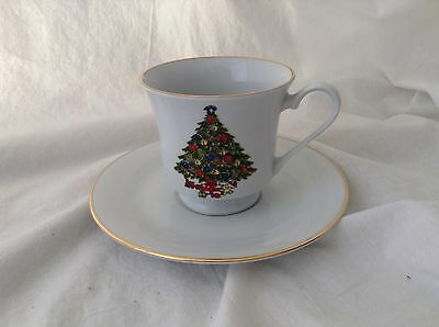Sea Gull Fine China Jian Shiang - Christmas Tree - Cup And Saucer