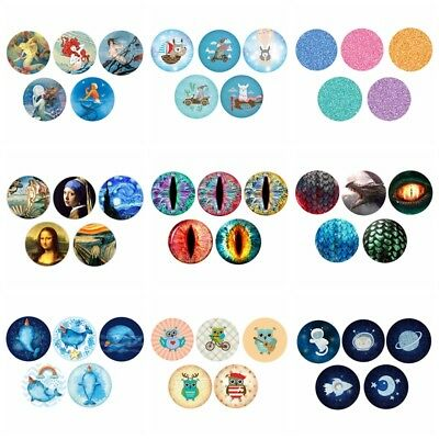 5 pcs/Set 12mm/16mm/20mm Space Glass Patch Cover Cabochons Cameo Jewelry Finding