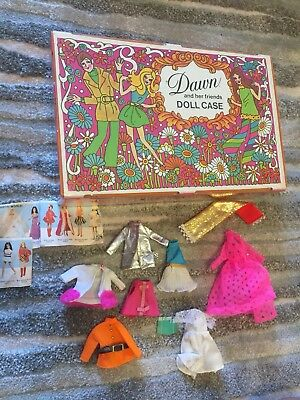 1970's Vintage Topper Dawnand Friends Case & Clothes Outfit Lot Nice!!!