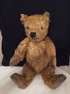 c7bd3bbdfc0 Lovely Antique Vintage Teddy Bear With Long Golden Mohair Fur 19 Inches