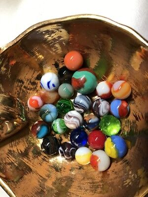 Vintage lot of 26 Hand Made Marbles