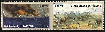 2011 Scott #4522-23 - Forever - CIVIL WAR - FORT SUMTER - Pair of Stamps - MNH