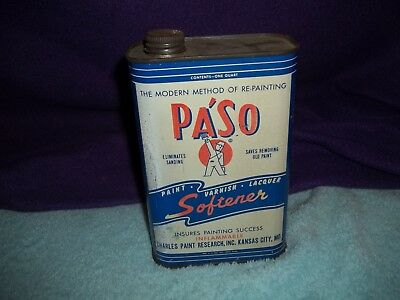 Vintage Paso Paint/varnish/lacquer Softener Tin