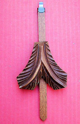 New genuine antique style hand carved cuckoo clock pendulum  ( 13 ).