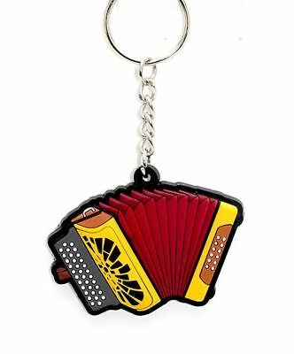 Button Accordion Keyring - Music Gift - Accordion Student Gift - Musical Keyring