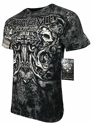 XTREME COUTURE by AFFLICTION Men T-Shirt HADES Skulls Biker MMA GYM S-4X $40