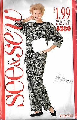 Butterick See & Sew  Pattern 4280 Sz 12-16  Top and Pants  Uncut Factory Folded