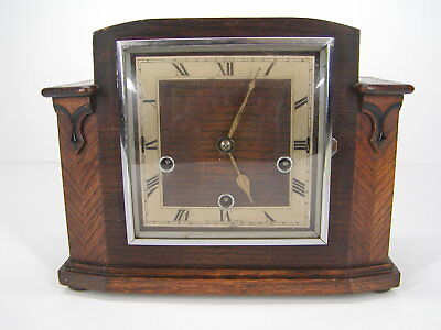 Antique/vintage Smiths Mahogany Enfeild 8 Chime Mantle Clock. Free Shipping