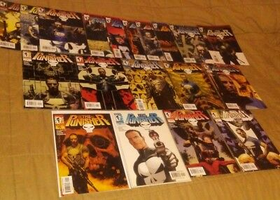 Punisher 1-12 2000 Ennis Marvel Knights + 1-5 7 13 2001 vol 3 4 run set lot key