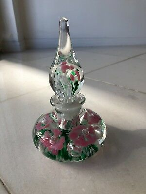 Blown Glass Vintage Perfume Bottle Perfect Condition