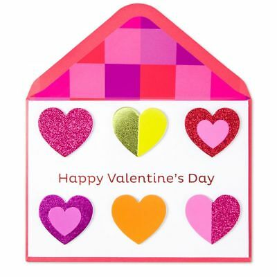 Papyrus Colorful Hearts Valentine Card