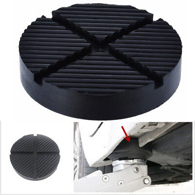 Car Cross Slotted Frame Rail Floor Jack Rubber Pad Adapter For Pinch Weld 125mm