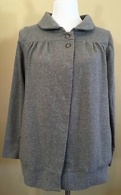Liz Lange Maternity Women's Size Small Gray, Long Sleeve, Snap Front Jacket