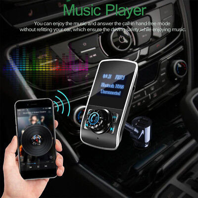 Wireless Bluetooth Car Kit FM Transmitter MP3 Radio Player USB Charger Handsfree