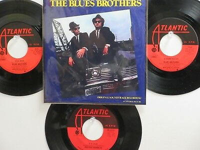 LOT OF 4 ' THE BLUES BROTHERS '/' ARETHA FRANKLIN ' HIT 45's+1P(Copy) 60's-80's!