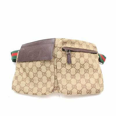 AUTHENTIQUE GUCCI SAC Banane Marron Toile 306375 - EUR 348,37 ... 7d99d8c757b
