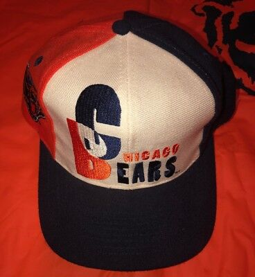 brand new f1016 07093 Vintage Chicago Bears Hat Cap Pro Line NFL Snapback Adjustable AJD Blue  White