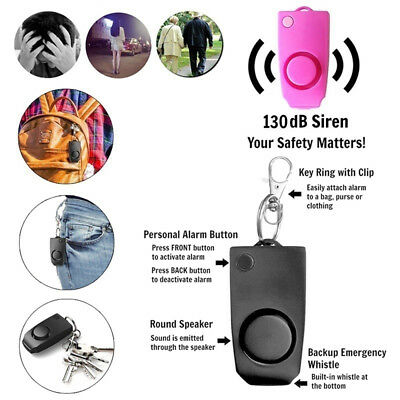 Anti-Attack Alarm Key Chain Anti-wolf Device Self Defense Personal Protection