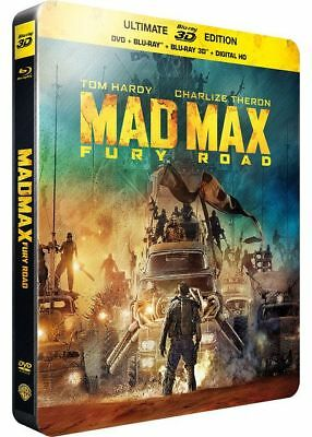 Mad Max Fury Road SteelBook Ultimate Édition Blu-ray 3D + Blu-ray + DVD NEUF
