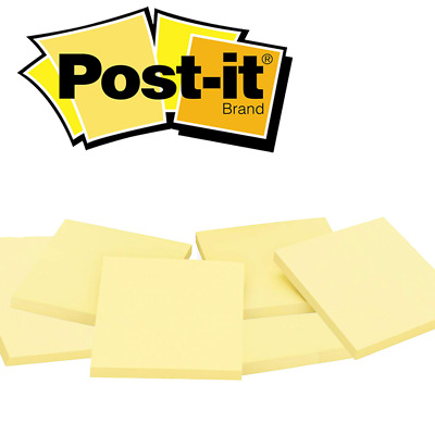 Post it® Notes Original Canary Yellow Removable Sticky Pad 76mm x 76mm