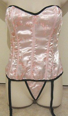 Beautiful Pink Bustier & G-string size M....$7.50 postage