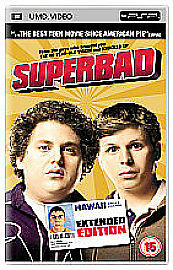 """ Superbad""  [UMD Mini for PSP] DVD Excellent Cond  ONLY £2.45 & UK FREEPOST!"