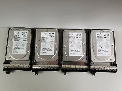 Lot of 4 Pre-owned Seagate Cheetah 10K.7 ST3300007LC 300GB Ultra320 hard drives